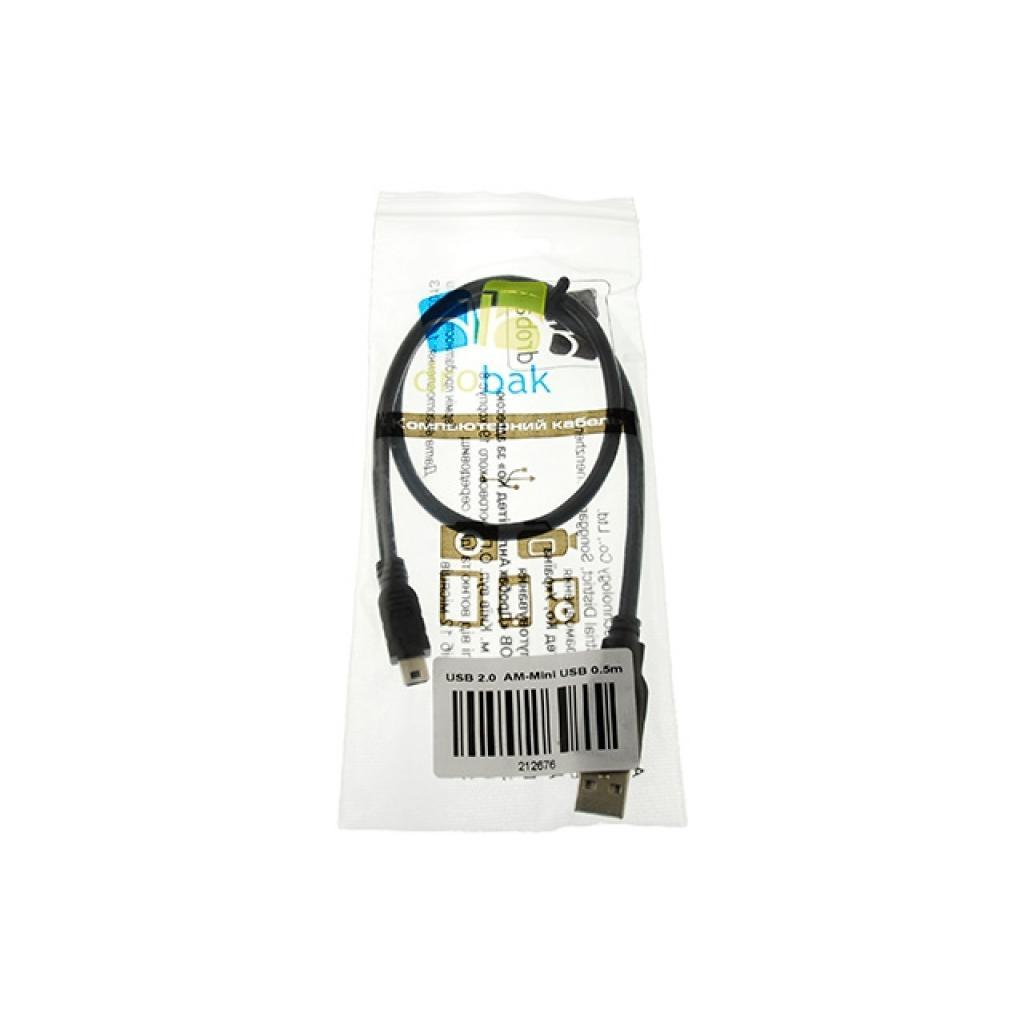 Дата кабель Drobak USB 2.0 AM–Mini USB Тип B 0,5м (212676) изображение 3