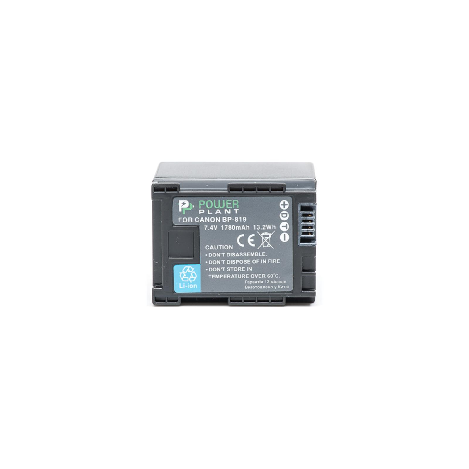 Аккумулятор к фото/видео PowerPlant Canon BP-819 Chip (DV00DV1245) изображение 2