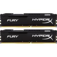 Модуль пам'яті для комп'ютера DDR4 8GB (2x4GB) 2666 MHz Fury Black Kingston (HX426C15FBK2/8)