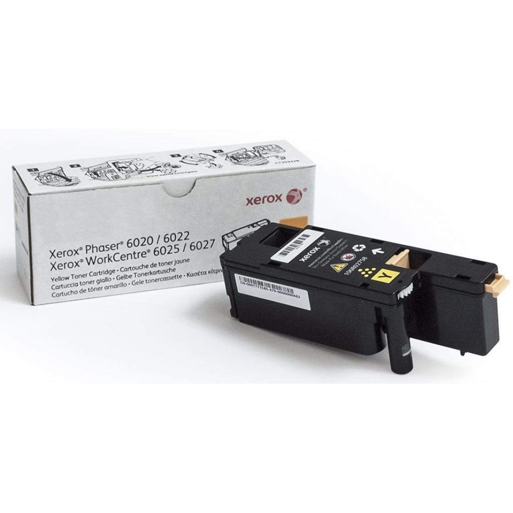 Тонер-картридж XEROX PH6020/6022/WC6025/6027 Yellow (106R02762)