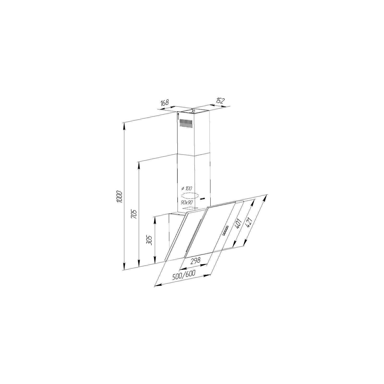 Вытяжка кухонная Pyramida KZ 60 BL изображение 10