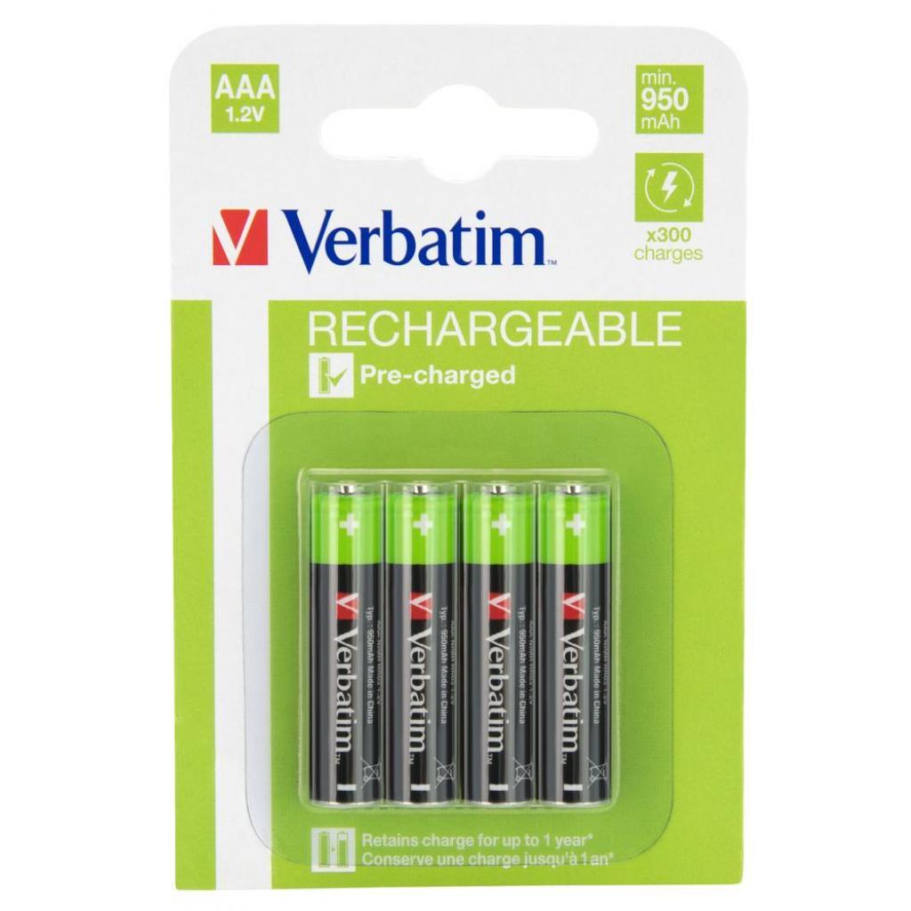 Аккумулятор Verbatim AAA 1000mAh * 4 (49942)