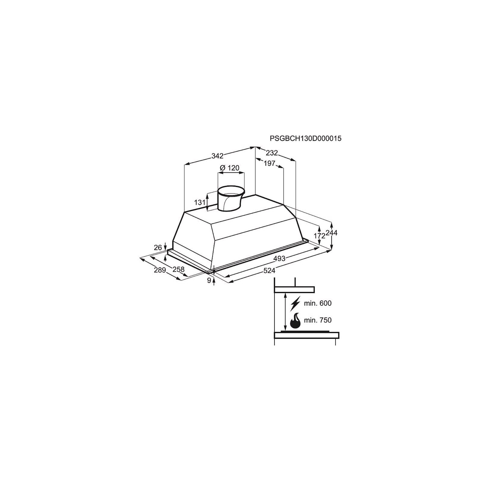 Вытяжка кухонная Electrolux EFG 50250 S (EFG50250S) изображение 2