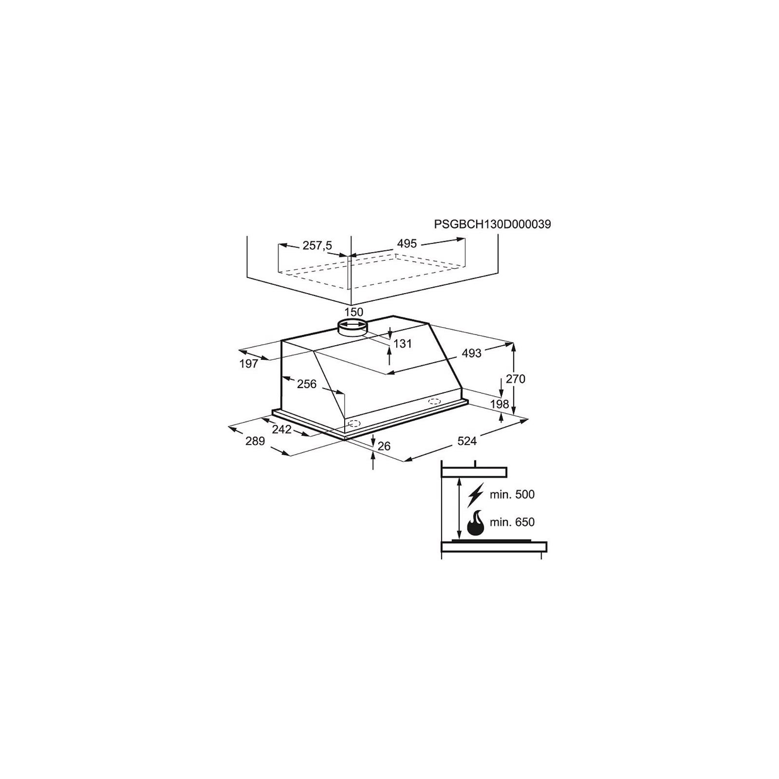 Вытяжка кухонная Electrolux EFG 50250 S (EFG50250S) изображение 3