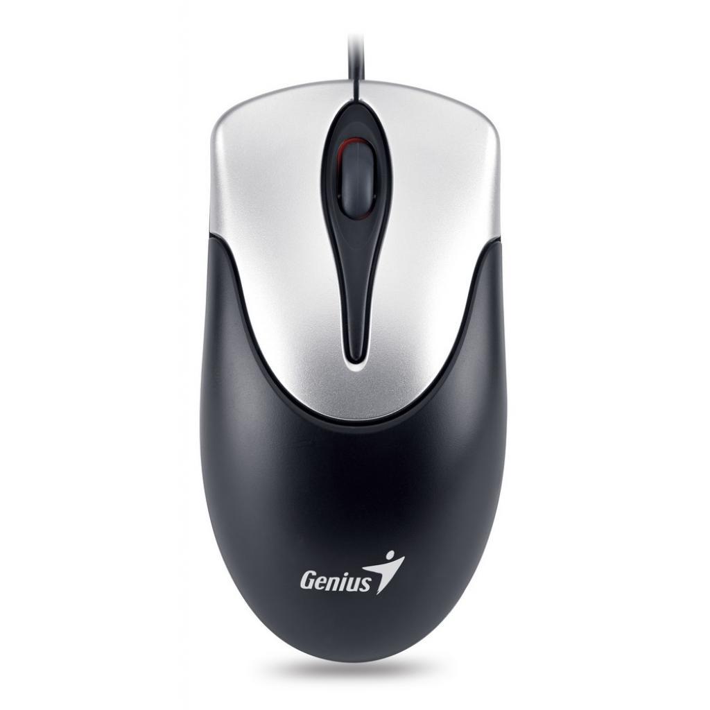 Мышка Genius NS-100 USB Black/Silver (31010232100) изображение 2