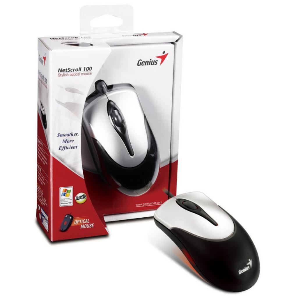 Мышка Genius NS-100 USB Black/Silver (31010232100) изображение 5