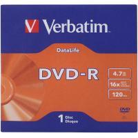 Диск DVD Verbatim 4.7Gb 16X Jacket 50 pcs DATA LIFE (43844-02)