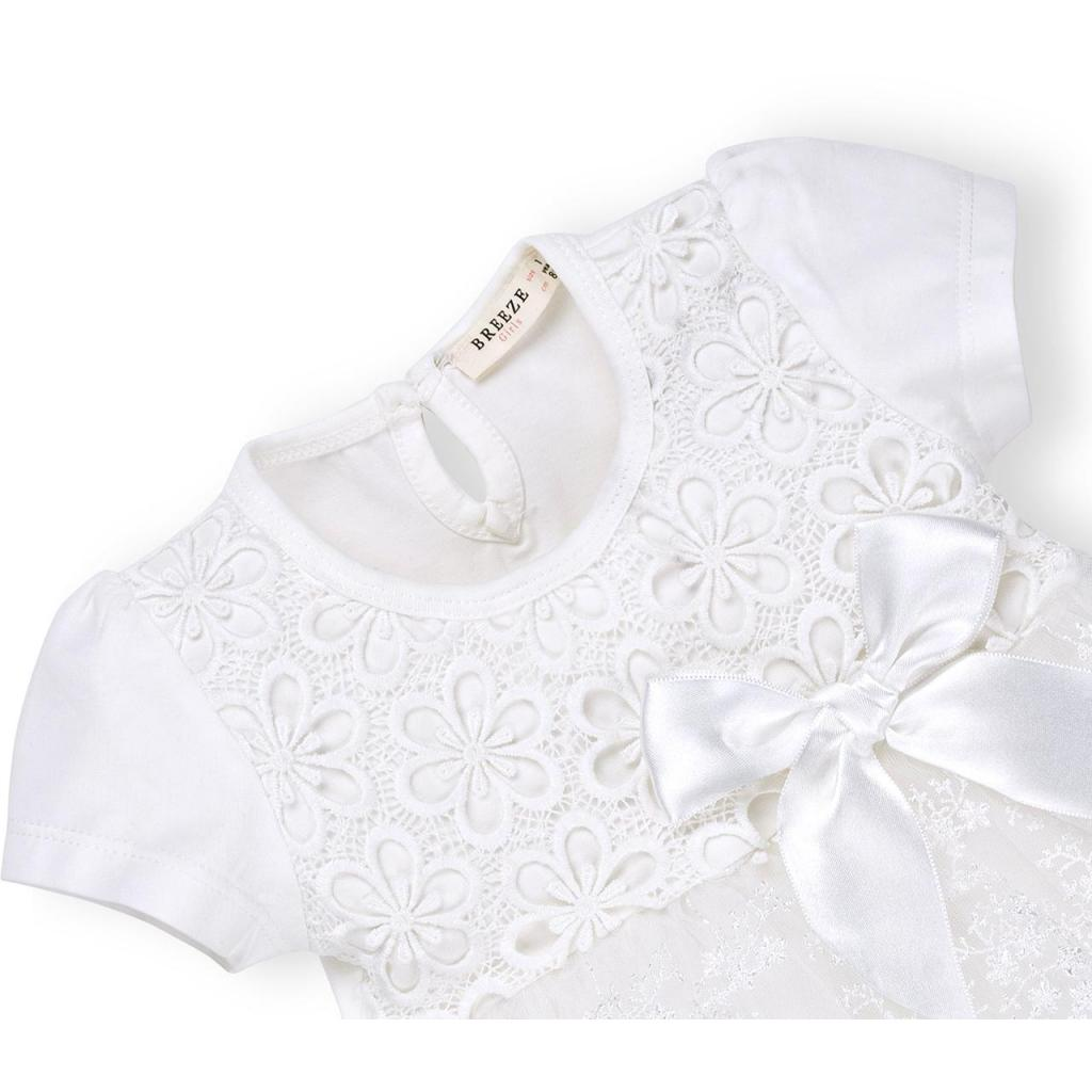 Платье Breeze кружевное с оборками (9011-86G-cream) изображение 3