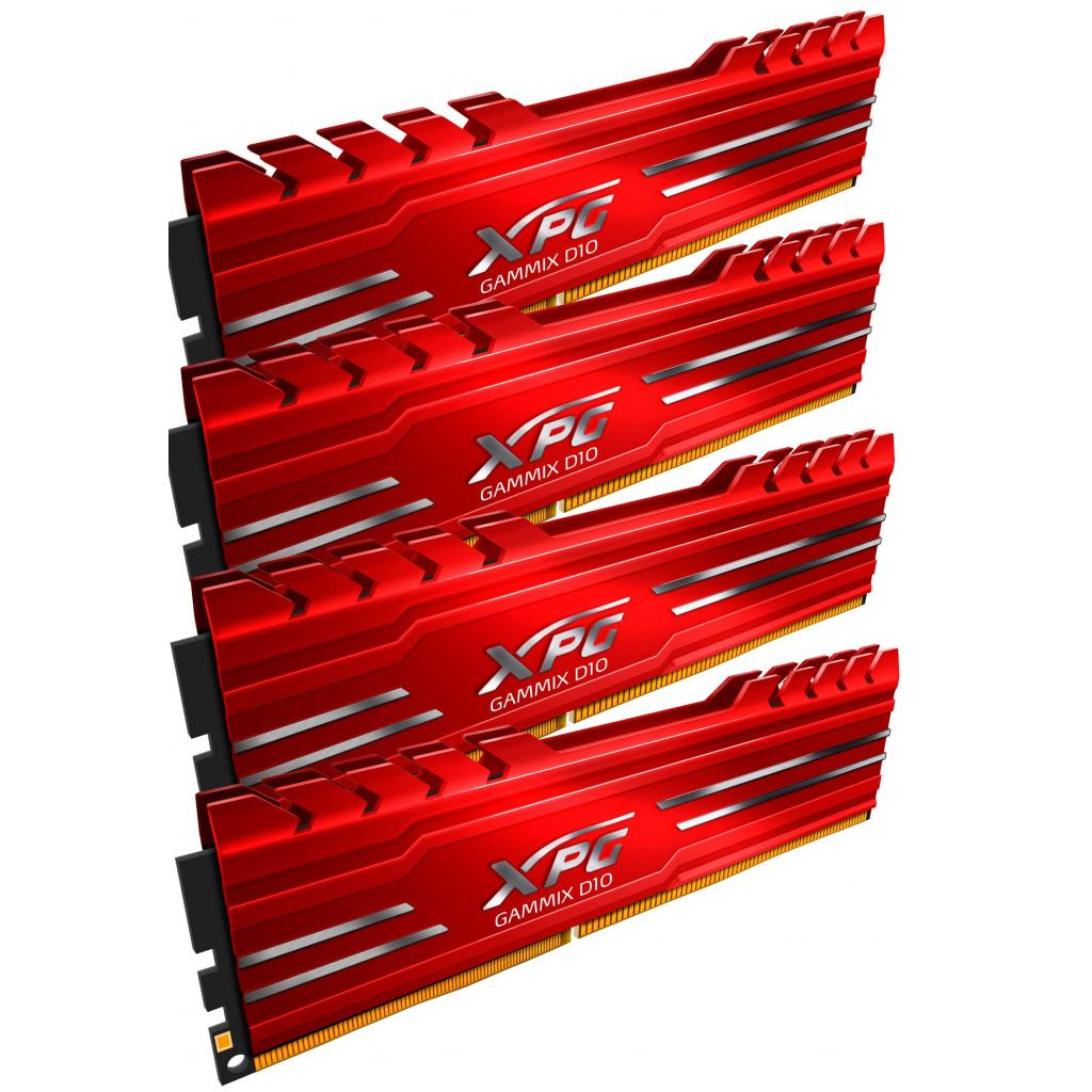 Модуль памяти для компьютера DDR4 16GB (4x4GB) 3000 MHz XPG Gammix D10 Red ADATA (AX4U3000W4G16-QRG) изображение 2