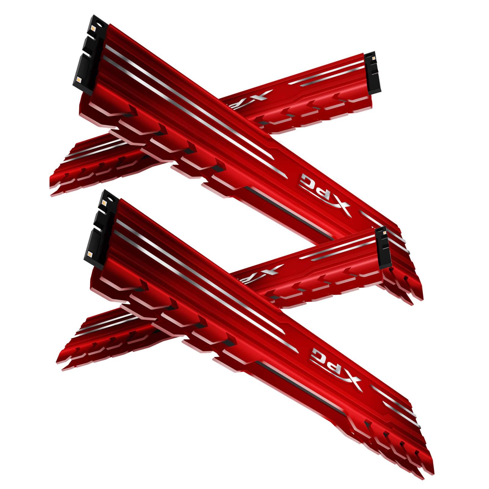 Модуль памяти для компьютера DDR4 16GB (4x4GB) 3000 MHz XPG Gammix D10 Red ADATA (AX4U3000W4G16-QRG) изображение 3
