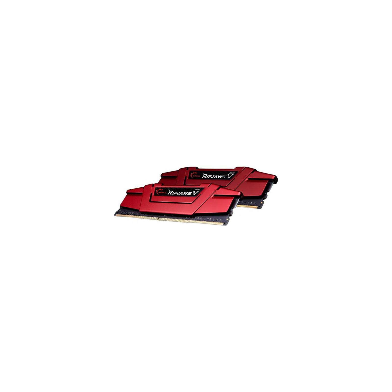 Модуль памяти для компьютера DDR4 16GB (2x8GB) 3000 MHz RipjawsV Red G.Skill (F4-3000C16D-16GVRB) изображение 3