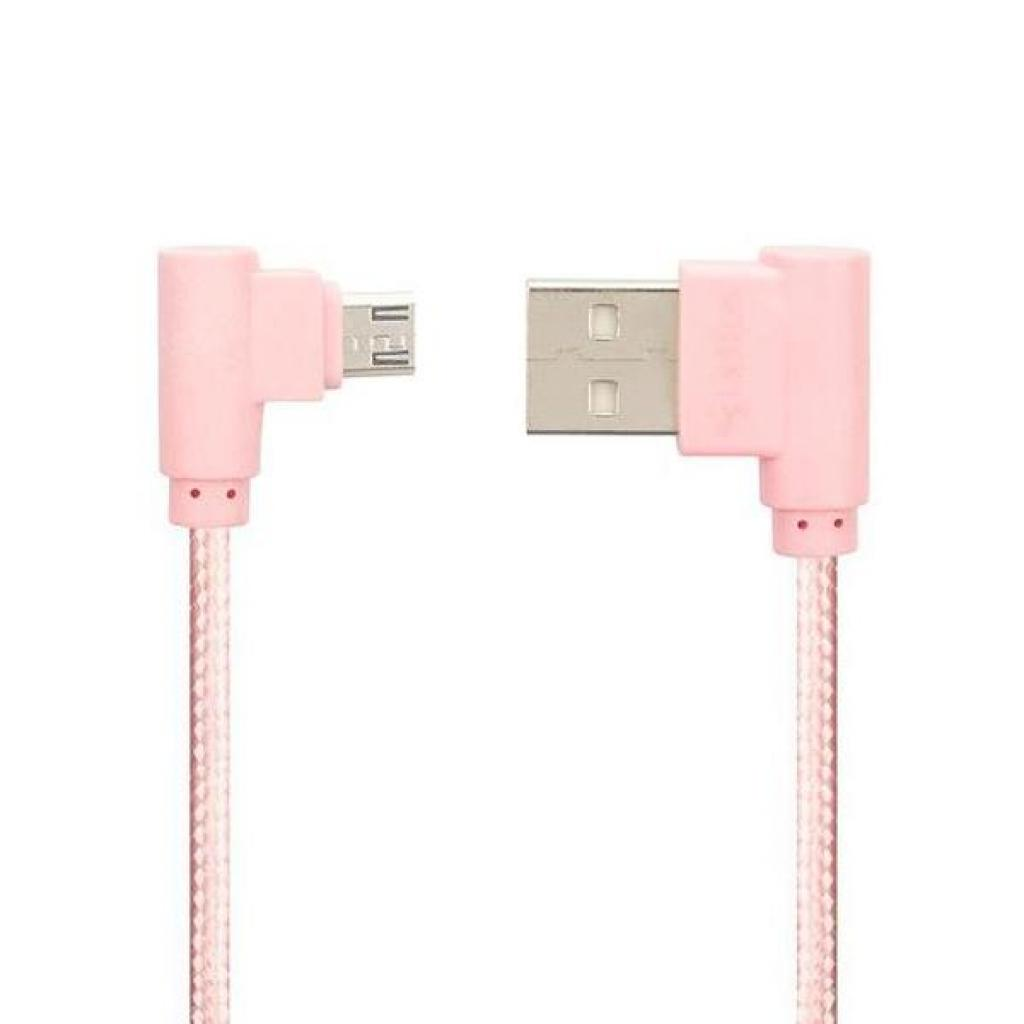 Дата кабель USB 2.0 AM to Micro 5P Pro Emperor 1A Pink Gelius (63253)