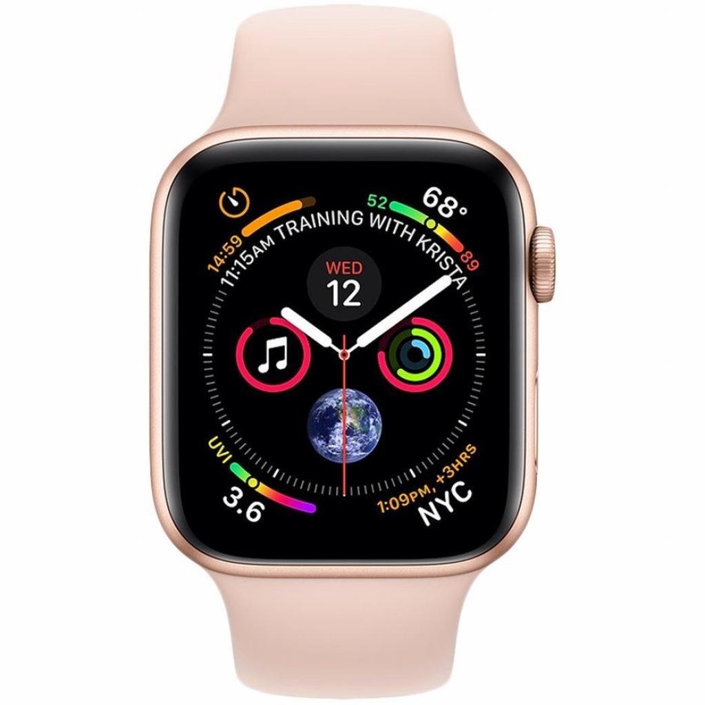 Смарт-часы Apple Watch Series 4 GPS, 44mm Gold Aluminium Case (MU6F2UA/A) изображение 2