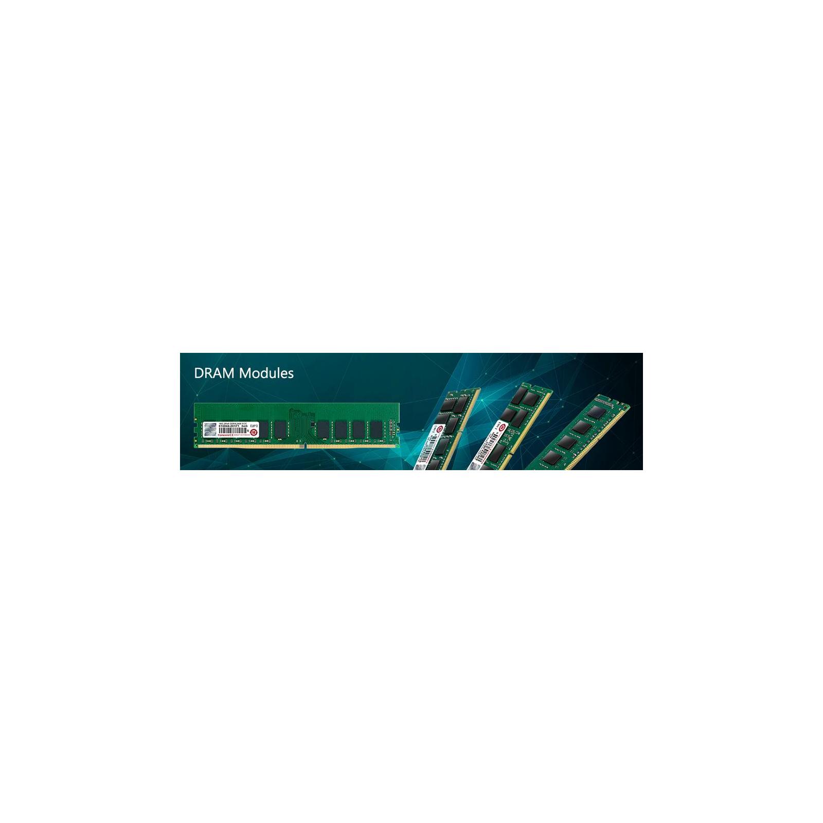 Модуль памяти для сервера DDR4 8GB ECC UDIMM 2400MHz 1Rx8 1.2V CL17 Transcend (TS1GLH72V4B) изображение 2