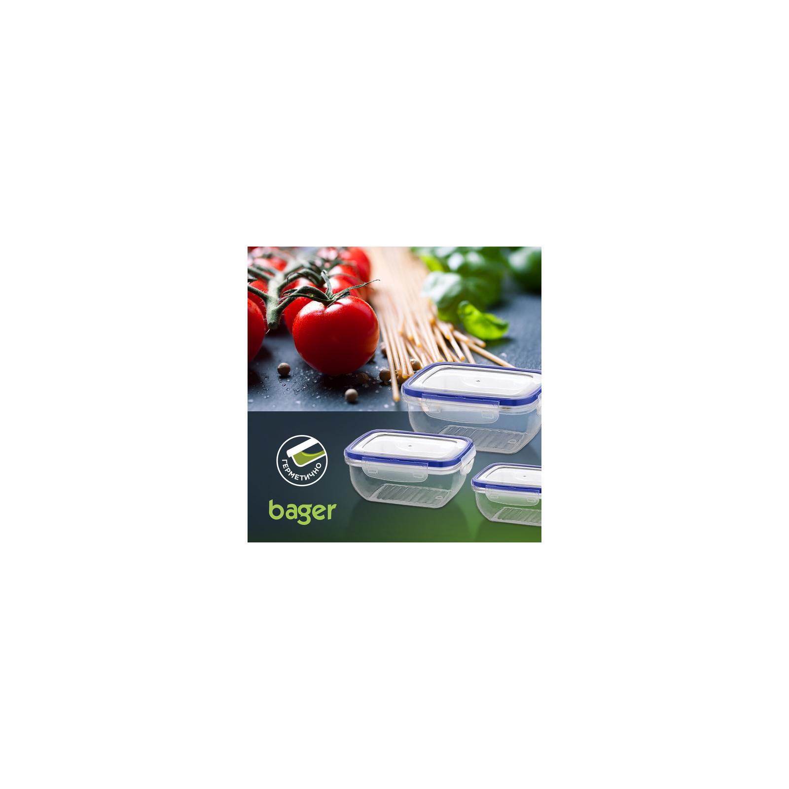 Пищевой контейнер Bager Cook&Lock 3 шт 0.4, 0.8, 1.35 л (BG-518) изображение 3