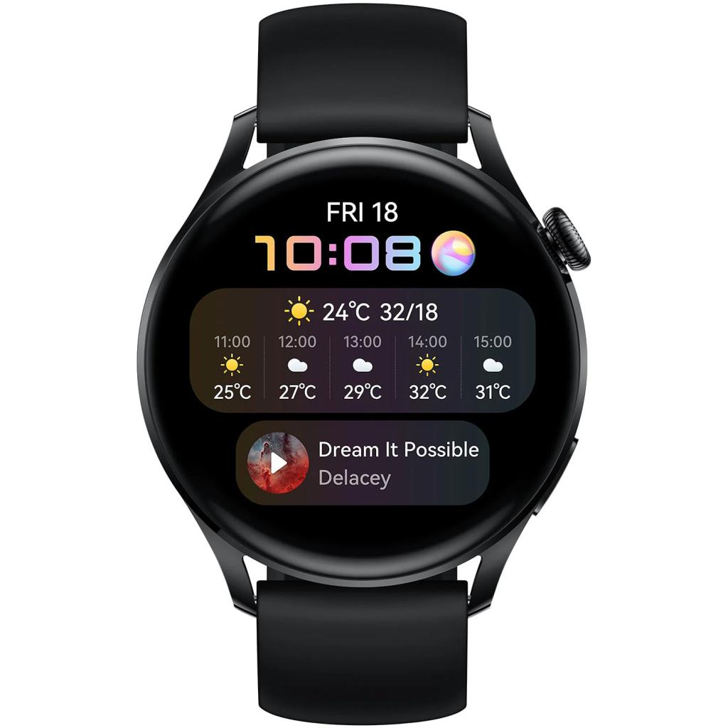 Смарт-годинник Huawei Watch 3 Black (55026820) зображення 2