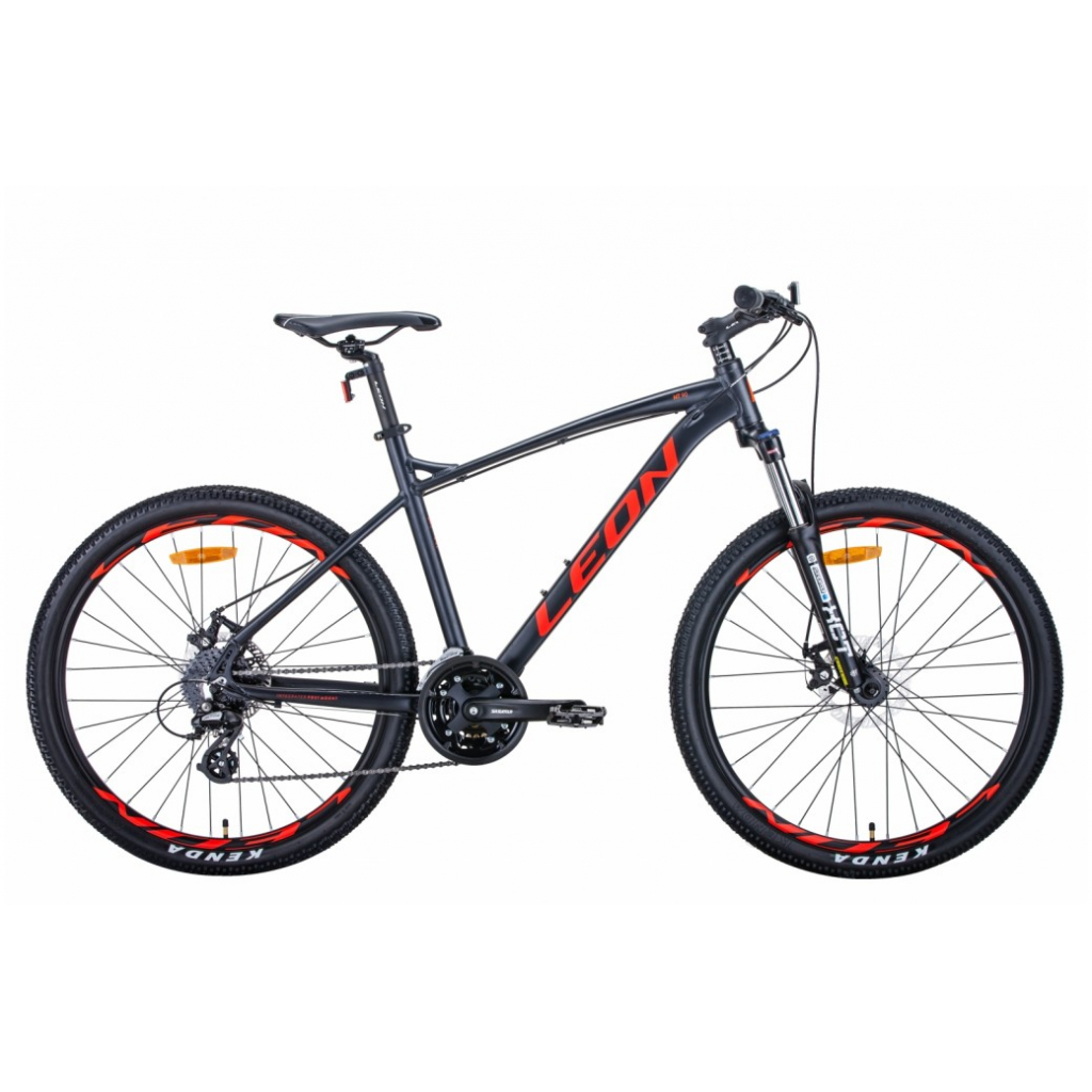 "Велосипед Leon 26"" HT-90 рама-19"" 2021 Graphite/Red (OPS-LN-26-073)"
